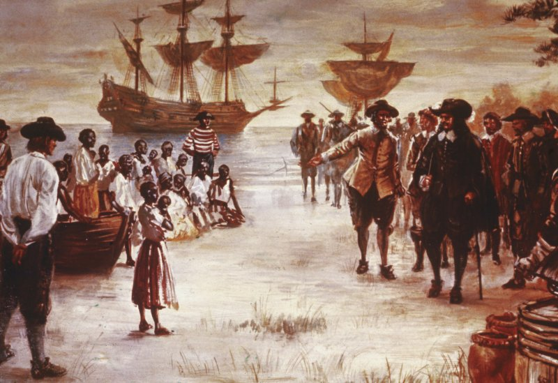 Dutch Slave Ship Arrives In Virginia